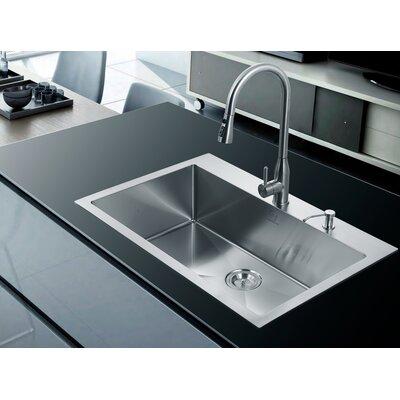 33 x 22 Single Drop-In Kitchen Sink