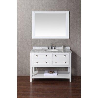 Albia 48 Single Sink Bathroom Vanity Set with Mirror