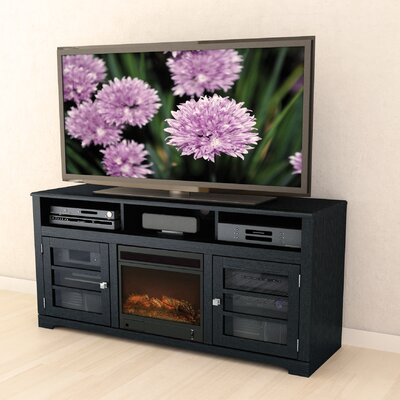 West Lake 60 TV Stand with Optional Fireplace Color: Warm Black, Fireplace Included: Yes