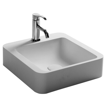 Bauhaus Square Vessel Bathroom Sink with Faucet