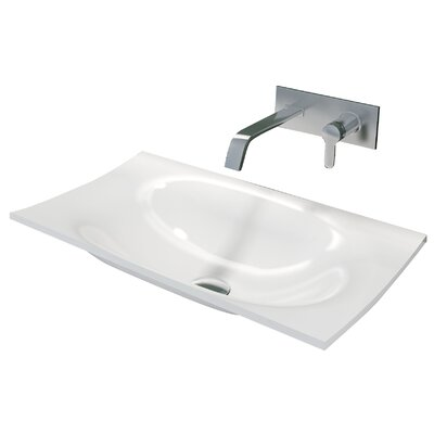 Walter True Solid Surface Self Rimming Bathroom Sink