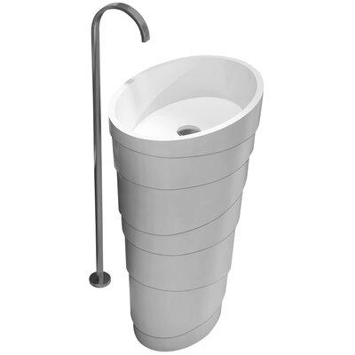 Arndt True Solid Surface 24 Pedestal Bathroom Sink