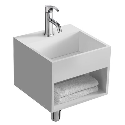 Lothar 13 True Solid Surface Single Sink Vanity Set with Cabinet