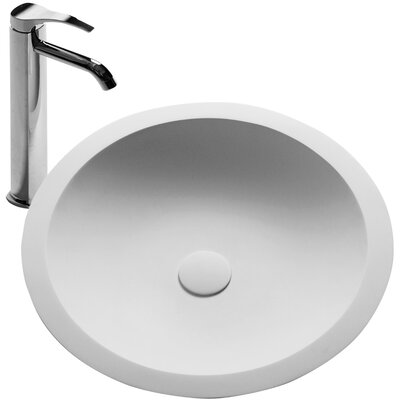 Schreyer True Solid Surface Circular Vessel Bathroom Sink