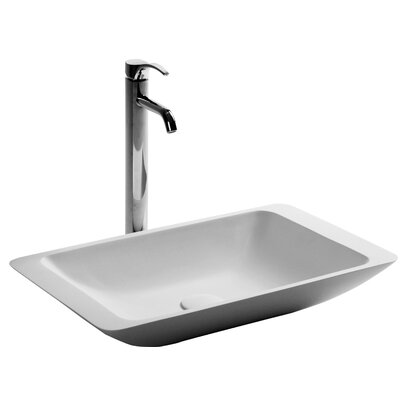 Breuer True Solid Surface Rectangular Vessel Bathroom Sink