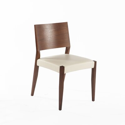Risor Genuine Leather Upholstered Dining Chair