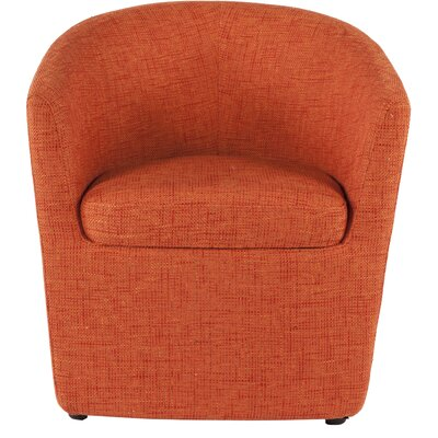 Tykby Barrel Chair Color: Orange