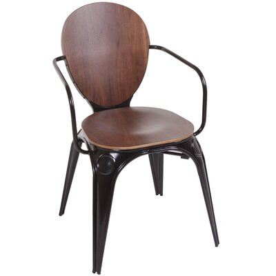 Fiskar Arm Chair Leg Finish: Black