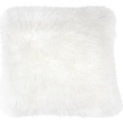 Shaggy Lamb Pillow Case Color: Beige