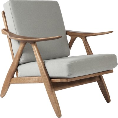 Hattem Armchair Leather: Gray