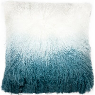 Shaggy Lamb Pillow Case Color: Blue