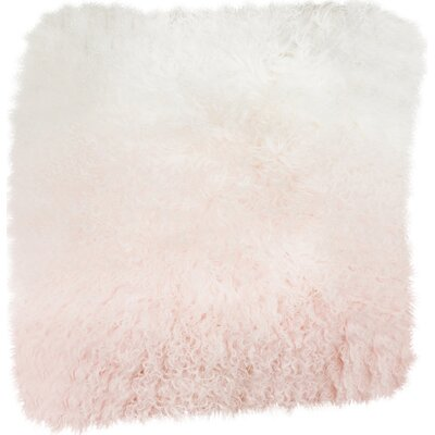 Shaggy Lamb Pillow Case Color: Pink