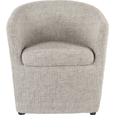 Tykby Barrel Chair Upholstery: Gray