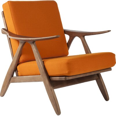Hattem Lounge Chair Leather: Orange