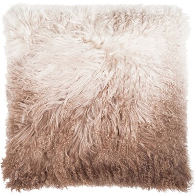 Shaggy Lamb Pillow Case Color: Brown