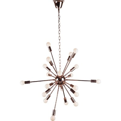 Orgasma 18-Light Sputnik Chandelier Finish: Gold