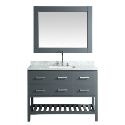 London Cambridge 48 Single Bathroom Vanity Set with Mirror