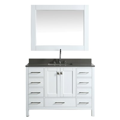 London Hyde 48 Single Bathroom Vanity Set with Mirror