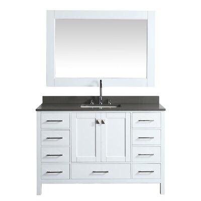 London Hyde 54 Single Bathroom Vanity Set with Mirror