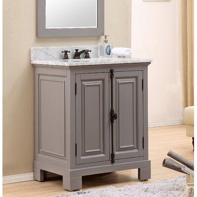 Freemont 30 Single Bathroom Vanity Set Base Finish: Gray