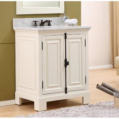 Freemont 30 Single Bathroom Vanity Set Base Finish: White