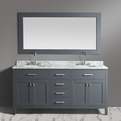 London Stanmark 72 Double Bathroom Vanity Set with Mirror