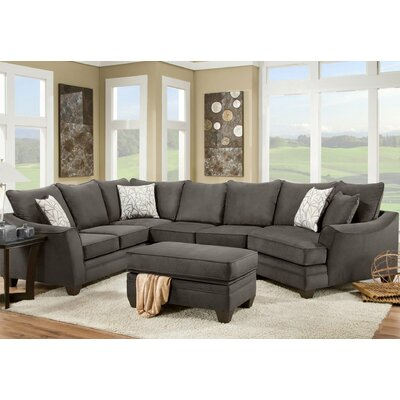 Campbell Sectional Upholstery: Flannel Espresso, Orientation: Right Hand Facing
