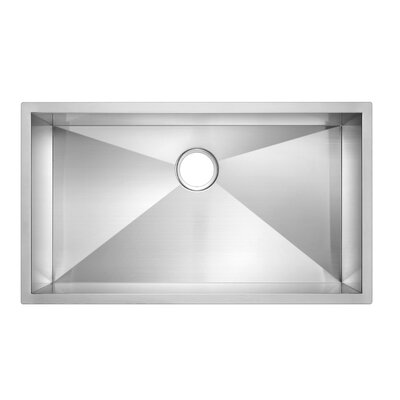 Zero Radius Stainless Steel 33 x 19 Single Undermount Kitchen Sink