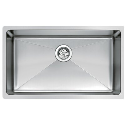Stainless Steel 30 x 18 Single Undermount Kitchen Sink with Coved Corner