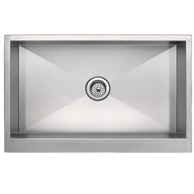 Zero Radius Stainless Steel 33 x 21 Single Apron Kitchen Sink