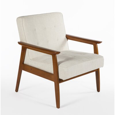 Adrian Arm Chair Color: Beige