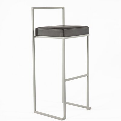 Adan Bar Stool Upholstery: Black
