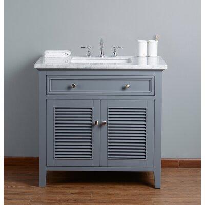 Richards 36 Single Bathroom Vanity Set Base Finish: Gray