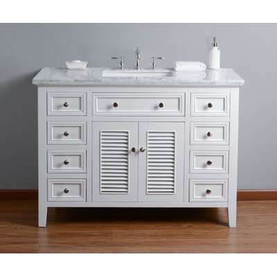 Richards 48 Single Bathroom Vanity Set Base Finish: White