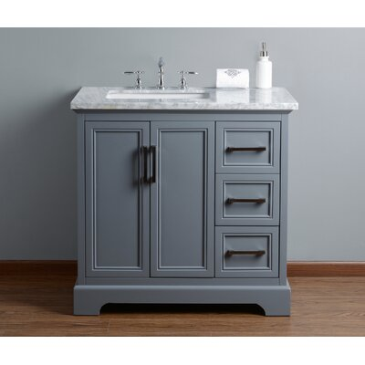 Ravenworth 36 Single Bathroom Vanity Set Base Finish: Gray