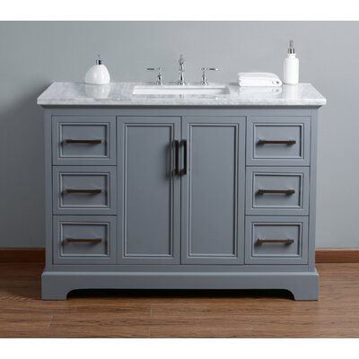 Ravenworth 48 Single Bathroom Vanity Set Base Finish: Gray