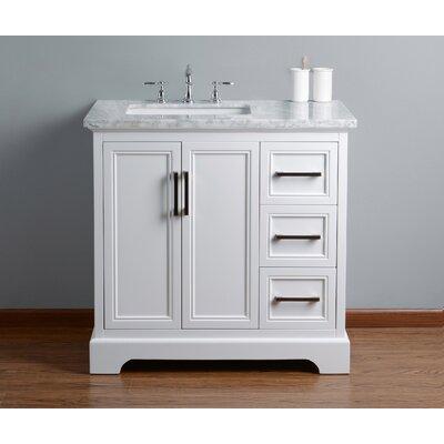Ravenworth 36 Single Bathroom Vanity Set Base Finish: White