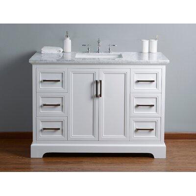 Ravenworth 48 Single Bathroom Vanity Set Base Finish: White