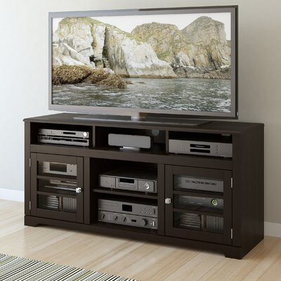 West Lake 60 TV Stand with Optional Fireplace Color: Mocha Black, Fireplace Included: No
