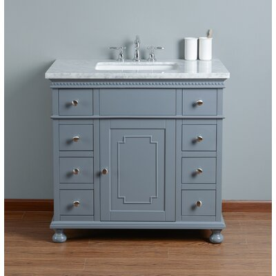 36 Single Bathroom Vanity Set Base Finish: Gray