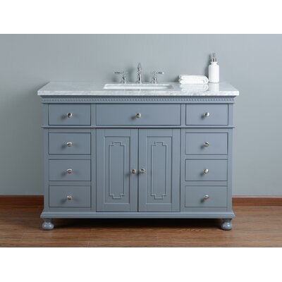 48 Single Bathroom Vanity Set Base Finish: Gray