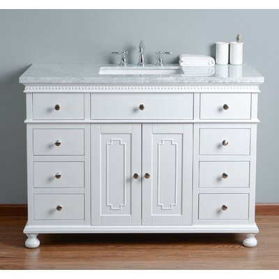 48 Single Bathroom Vanity Set Base Finish: White