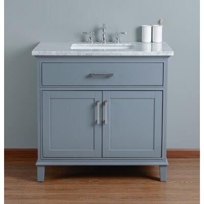 Caudill 36 Single Bathroom Vanity Set Base Finish: Gray