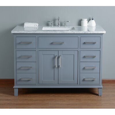 Caudill 48 Single Bathroom Vanity Set Base Finish: Gray