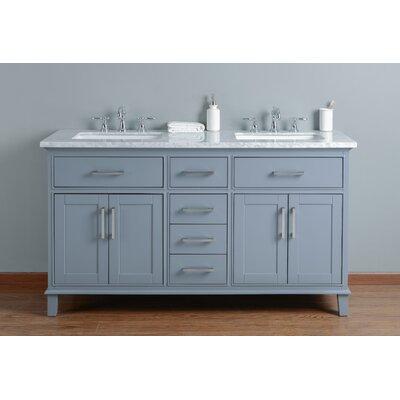 Mundy 60 Double Bathroom Vanity Set Base Finish: Gray