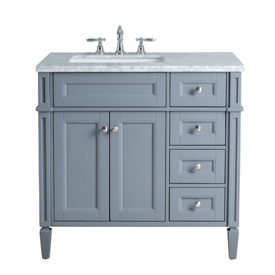 Mauricio French 36 Single Bathroom Vanity Set Base Finish: Slate Gray