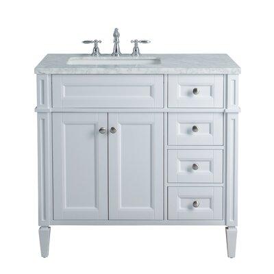 Mauricio French 36 Single Bathroom Vanity Set Base Finish: White