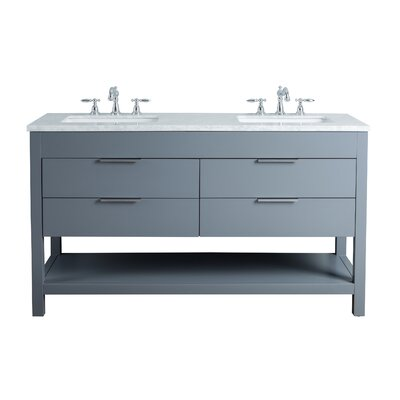 Knorr 60 Double Bathroom Vanity Set Base Finish: Gray