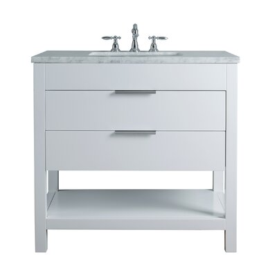Knorr 36 Single Bathroom Vanity Set Base Finish: White