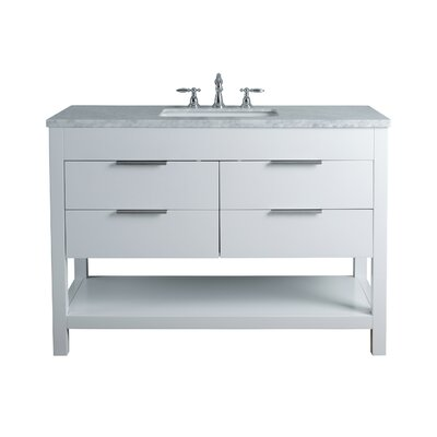 Knorr 48 Single Bathroom Vanity Set Base Finish: White